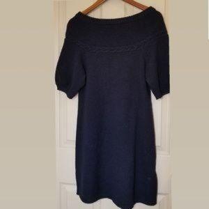 BCBGMAXAZRIA| 100% Wool Knit Dress Sz S Dark Blue